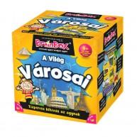 BrainBox A világ városai társasjáték 71 kártyás memóriafejlesztő társas