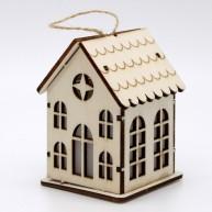 IMP-EX karácsonyi dekoráció - világító lézervágott templom