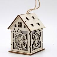 IMP-EX LED karácsonyi dekoráció házikó csengő motívummal 6*10cm