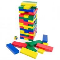 Jenga nagy építő- és társasjáték színes 0175