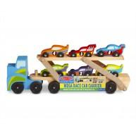 Melissa & Doug nagy versenyautó szállító kamion 2759