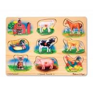 Melissa & Doug hangos puzzle farmos 268