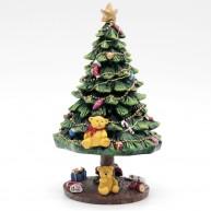 IMP-EX karácsonyi dekoráció polirezin karácsonyfa feldíszítve - zenélő és világító