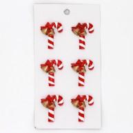 Karácsonyi dekoráció cukor kampó kerámiából harang díszítéssel öntapadós 468255