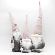 IMP-EX orrmanók lila-szürke karácsonyi dekoráció szett