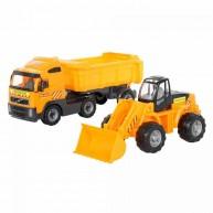 Volvo játék teherautó és markoló 36872