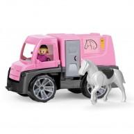 Lena Truxx lószállító autó lovas kislánnyal és lóval 04458