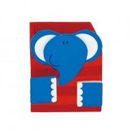 Színes, fa ceruzatartó- elefánt