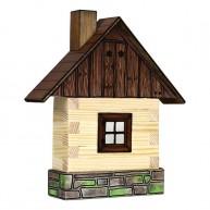 Walachia fa építőjáték - ablakos fakunyhó  5009