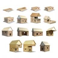 Walachia fa építőjáték - Vario ( 72 darabos )   5029
