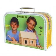 Walachia fa építőjáték - Vario bőrönd készlet ( 72 darabos )   5045