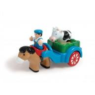 WOW Toys Jim farmer szekérrel és egy tehénnel 10494