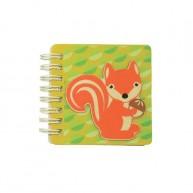 Fa borítós notesz, mókusos 4822-C