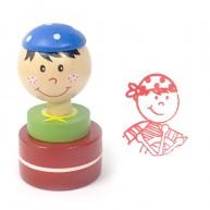 Gyerek nyomda, kék sapkás kisfiú   4823-A