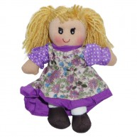 BUMI Rongybaba lila virágos ruhában 25 cm 3332L