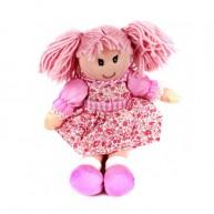 BUMI rongybaba rózsaszín hajú rózsaszín virágos ruhában 4311N