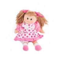 BUMI Rongybaba rózsaszín pöttyös ruhában 4331L