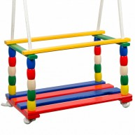 Gyermek színes beülős fa hinta  0454-A