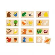 VIGA párosító puzzle - mit esznek az állatok készségfejlesztő játék 4664