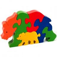 3D Puzzo Medve bocsával 3828