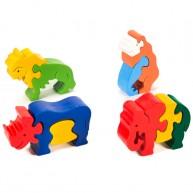 3D Puzzo szafari 1619