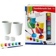 Kifesthető fogkefetartók fogmosó poharakkal 4320