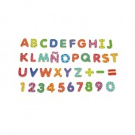 VIGA színes mágneses betűk és számok rajz- és mágnestáblához 5338