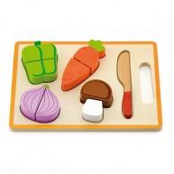 Szeletelhető zöldségek tálcán - játék élelmiszerek 5134