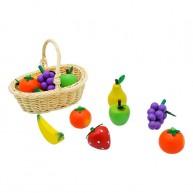 Játék fa gyümölcsök kosárban 5110