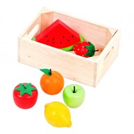 Mentari játék fa gyümölcsök fa rekeszben 5085