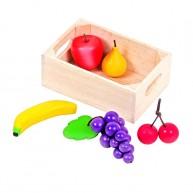 Mentari játék fa gyümölcsök fa rekeszben 5086