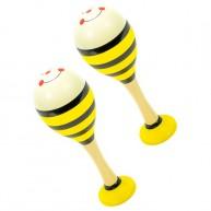 Rumbatök gyerekeknek sárga méhecske csíkos párban 4188B