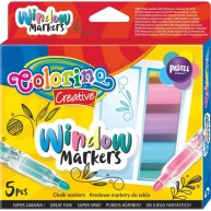 Colorino ablak filctoll - pastell színű 5db-os 39637