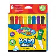 Colorino Baby Line mosható filctoll készlet 8db-os vastag végű 39567