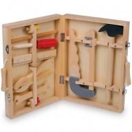 Legler fa szerszámos koffer felszereléssel 2479
