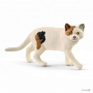 Schleich 13894 Amerikai foltos rövidszőrű macsak figura