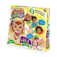 Face Paintoos arcfestő, arctetováló csomag gyerekeknek vadállatos mintákkal FP001