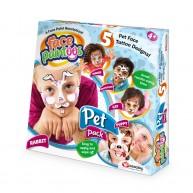 Face Paintoos arcfestő, arctetováló csomag gyerekeknek házi kedvences mintákkal FP002