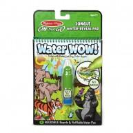 Melissa & Doug vízzel kiszínezhető füzet dzsungel témájú Water WOW! 4 képes 30176