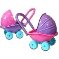 DOHANY babakocsi napellenzővel játékbabáknak 5013
