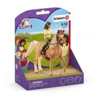 Schleich Sara és Mystery lovas a lovával 42517