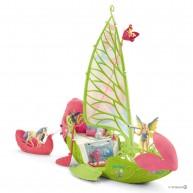 Schleich Sara varázslatos virágcsónakja csikójával és kisállatával 42444