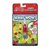 Melissa & Doug vízzel kiszínezhető füzet sport témájú Water WOW! 4 képes 30175