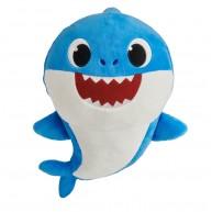 Baby Shark zenélő plüss- Daddy Shark Apa cápa