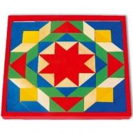 Legler nagy fa mozaik tábla - 80 darabos 1038