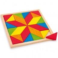 Legler színes fa mozaik kirakós játék 2694