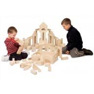 Melissa & Doug natúr nagyméretű építőkockák ládában 60db 10503