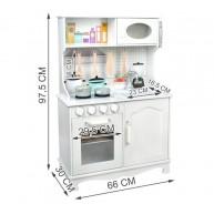 Fa játékkonyha Little Chef kiegészítőkkel beépített mikróval, mosogatóval, telefonnal