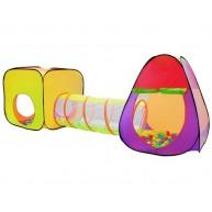 Játszósátor alagúttal és 200db műanyag labdával 2880 - Pop Up technológia