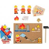 Legler kalapálós mozaik kirakó - tűzoltós   10581